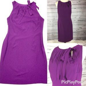 Ann Taylor purple career shift dress size 6